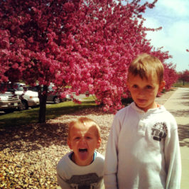 Pink Flowers, Sticking Tongues, Laughter.