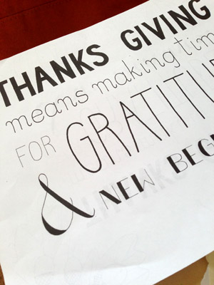 My First Handlettering Experience – Simple Thanksgiving Illustration