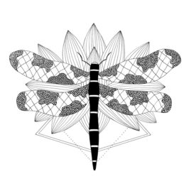 Zen Collection - Dragonfly Over Lotus